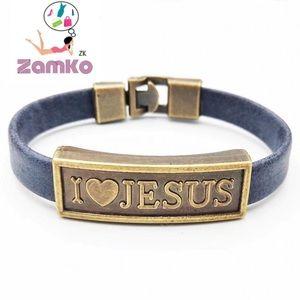 Jewelry - ❄️Cute I love Jesus Handmade Leather Bracelet❄️